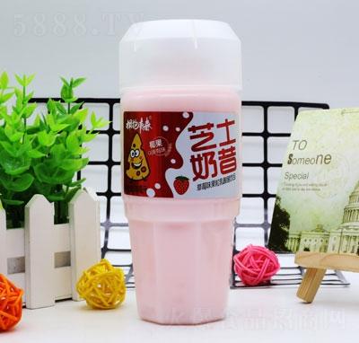 拥抱青春芝士奶昔草莓味果粒乳酸菌饮品(瓶)