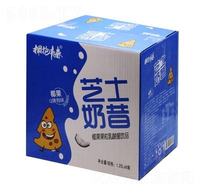 拥抱青春芝士奶昔椰果果粒乳酸菌饮品1.25LX6