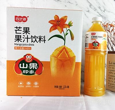 百芝源芒果果汁饮料1.25Lx6