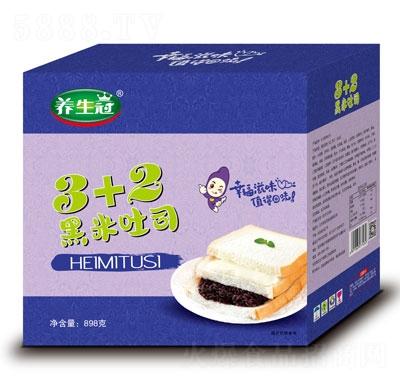 养生冠3+2黑米吐司898g产品图