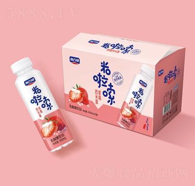 米啦嗦草莓西米露乳酸菌饮品420mlX15