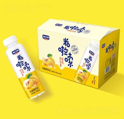 米啦嗦黄桃西米露乳酸菌饮品420mlX15