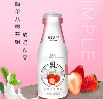 奥夫农庄草莓味酸奶饮品270ml