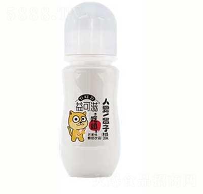益可滋带奶嘴玻璃瓶芒果味酸奶饮品