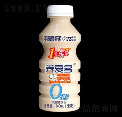 养爱多乳酸菌饮品原味340ml