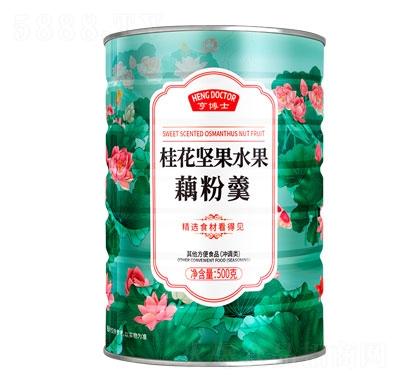亨博士桂花坚果水果藕粉羹500g产品图