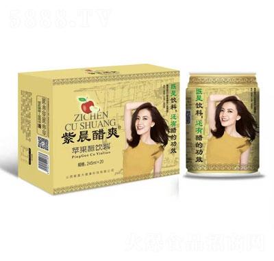 紫晨醋爽苹果醋饮料245mlX20