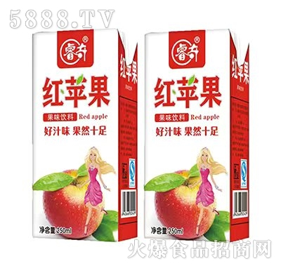 睿奇红苹果果味饮品350ml