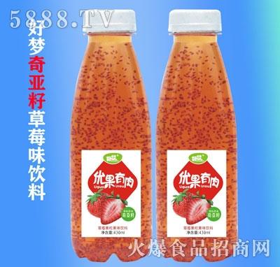 好梦优果优肉草莓味果汁饮品330ml