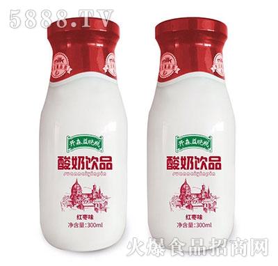 开森益晓瓶酸奶饮品红枣味300ml产品图
