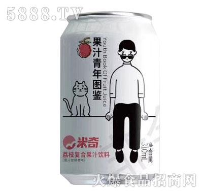 米奇荔枝复合果汁310mlX24罐