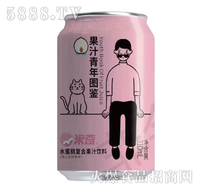 米奇水蜜桃复合果汁310mlX24罐