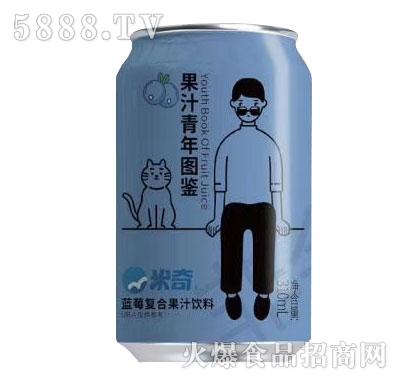 米奇蓝莓复合果汁310mlX24罐