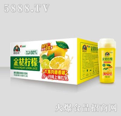 欧芝美金桔柠檬益生菌复合果汁饮料