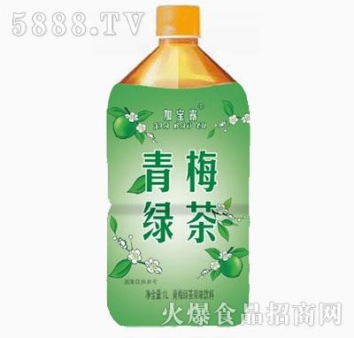 加宝露青梅绿茶1L