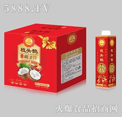 枝头鹊生榨椰子汁植物蛋白饮料1L×6瓶