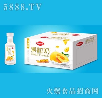 苏梅阳光黄桃味果粒奶350ml×15瓶