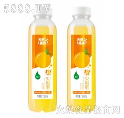 天府果缘鲜橙味复合乳酸菌饮料500ml产品图