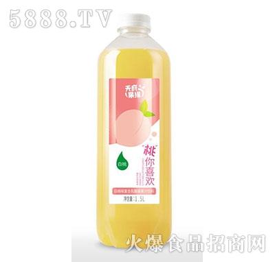 天府果缘白桃味复合乳酸菌果汁饮料1.5L