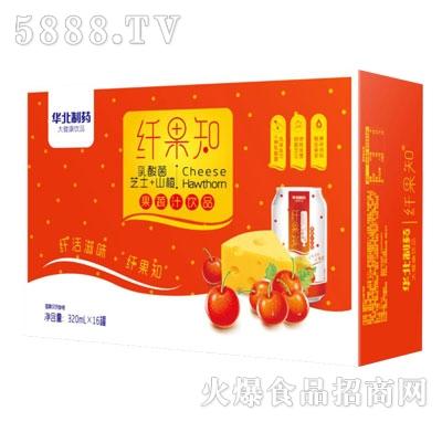 纤果知芝士+山楂果蔬汁饮品320mlX16