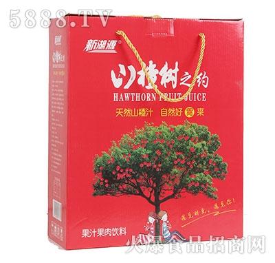 新湖源山楂树之约山楂果汁果肉饮料礼盒装
