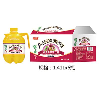 新湖源摇一摇百香果汁1.41Lx6瓶