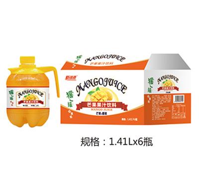 新湖源摇一摇芒果汁1.41Lx6瓶