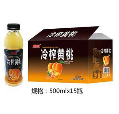 新湖源冷榨黄桃500mlx15瓶