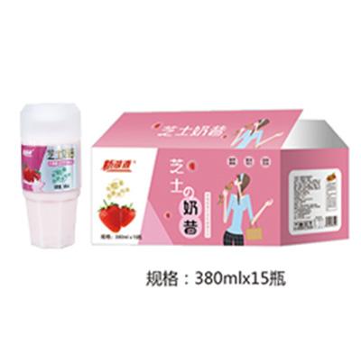 萌小牛草莓芝士奶昔380mlx15瓶