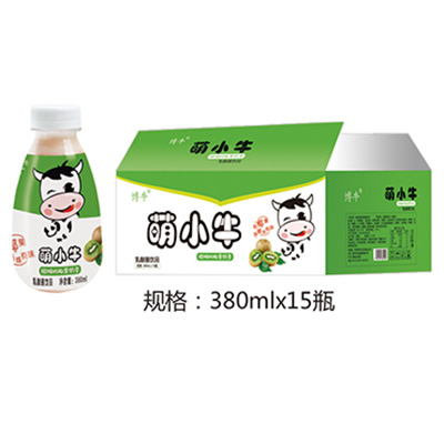 萌小牛猕猴桃奶昔乳酸菌饮品380mlx15瓶