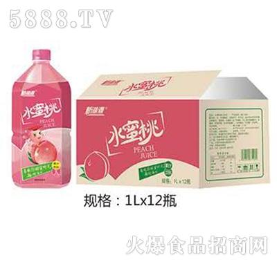 新湖源水蜜桃饮料1Lx12瓶