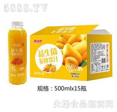 新湖源益生菌发酵果汁芒果味500mlx15瓶