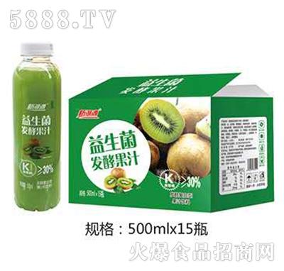 新湖源益生菌发酵果汁猕猴桃味500mlx15瓶