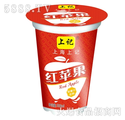 上记杯装苹果汁饮料350ml产品图