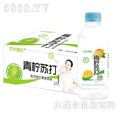 芯水相印青柠苏打果味饮料350mlx24瓶