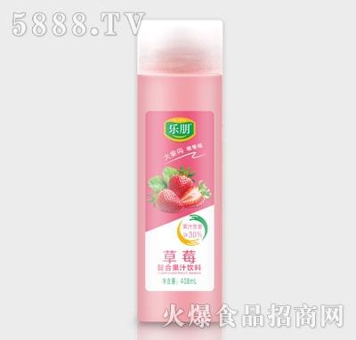 乐朋草莓复合果汁饮料408ml
