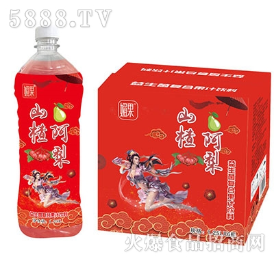 媚果山楂阿梨益生菌复合果汁