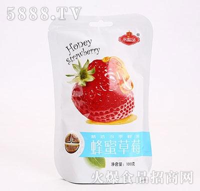 来懿品蜂蜜草莓100g产品图