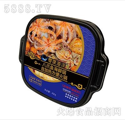零度海洋八爪鱼海鲜自加热方便火锅(麻辣牛油底料)450g