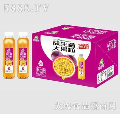 沃品佳百香果益生菌大果粒果汁488mlx15