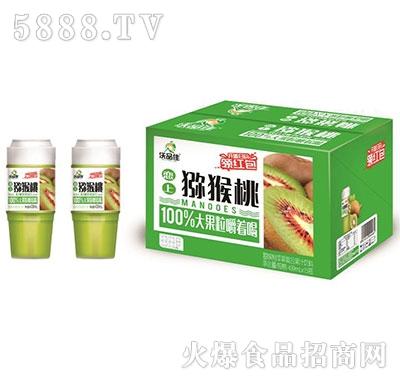 沃品佳猕猴桃苹果益生菌杯装果汁439mlx15