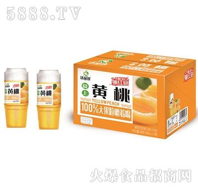 沃品佳黄桃益生菌杯装果汁439mlx15