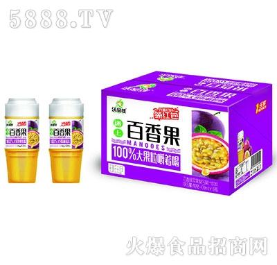 沃品佳百香果苹果益生菌杯装果汁439mlx15