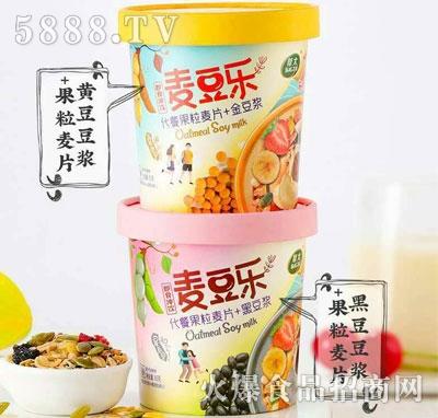 帮太黄豆豆浆+果粒麦片