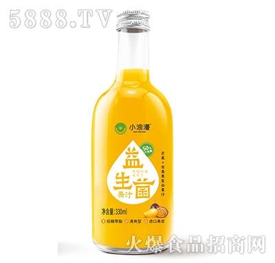 小浪漫芒果+百香果益生菌果汁330ml产品图