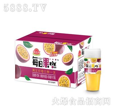 蜜沁源每日果燃百香果汁饮料450mlx15瓶