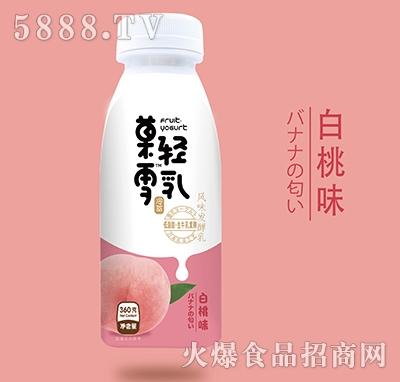菓轻雪乳风味发酵乳白桃味350g