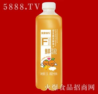 宜泉果蔬汁饮料益生菌发酵果汁鲜橙味1.5L