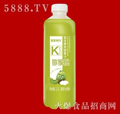 宜泉果蔬汁饮料益生菌发酵果汁猕猴桃味1.5L