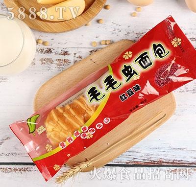 食舌酥毛毛虫面包红豆味80g